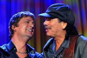 Rob Thomas and Santana